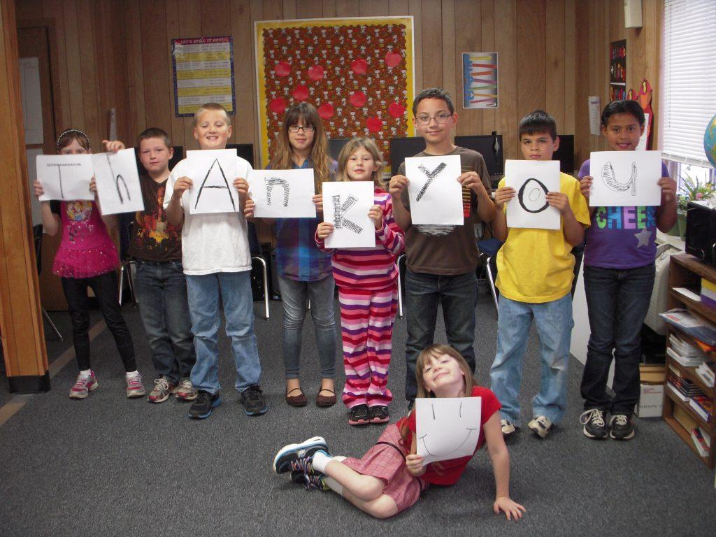 Big Jackson Students say Thank You